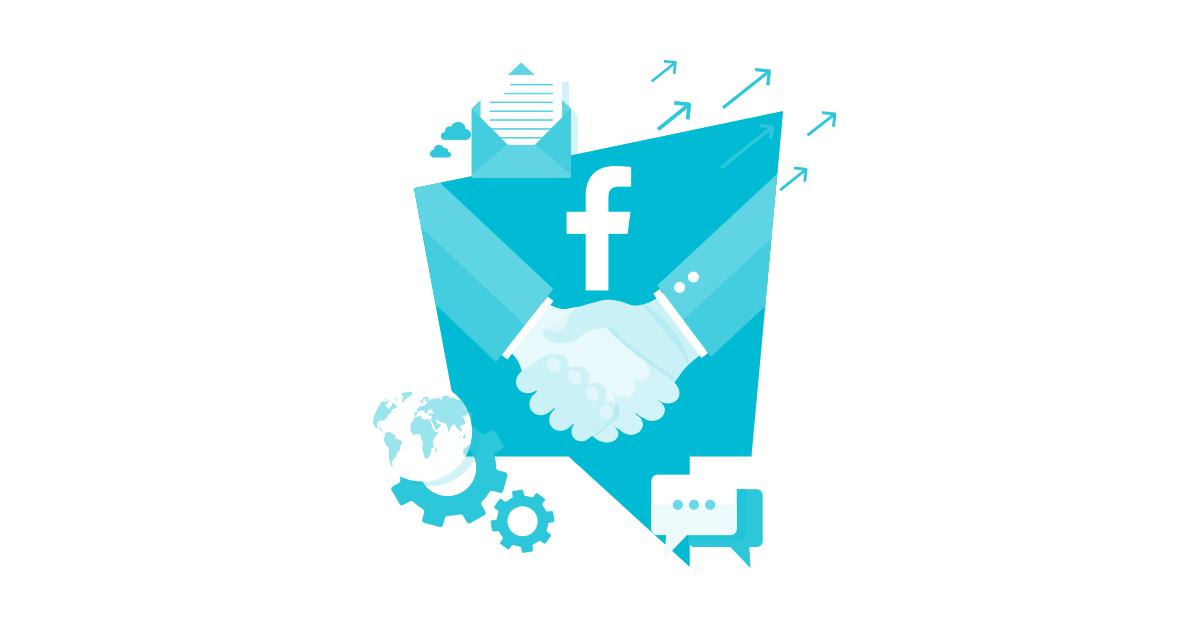 Facebook-partnership ilustration