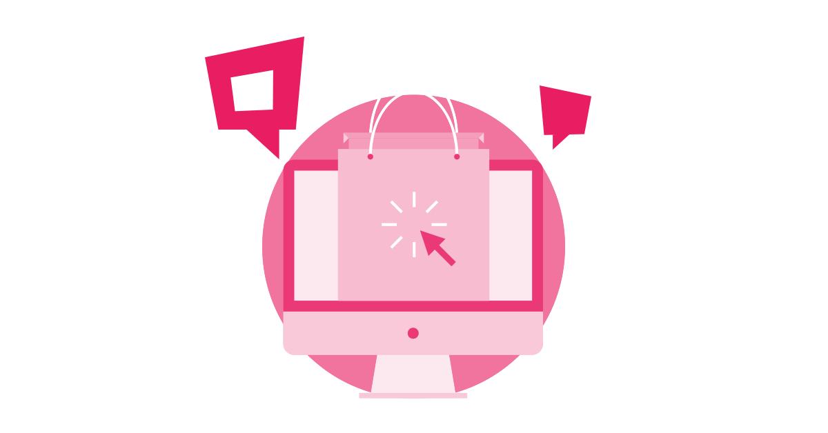 online sales ilustration